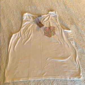 NWT fraternity collection frocked tank
